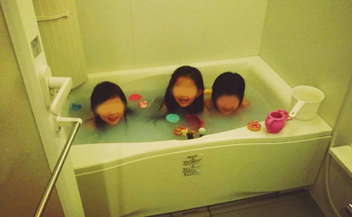お泊り お友達の家 お風呂