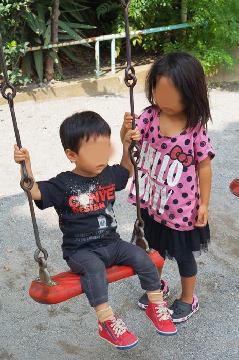 姉弟で公園へ