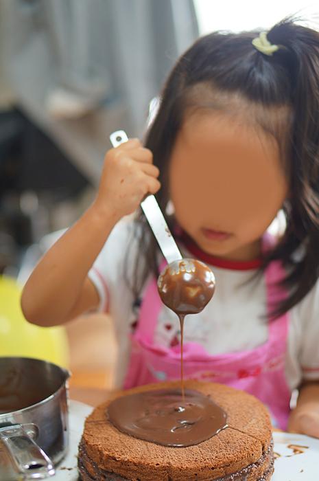 チョコレートケーキ作り
