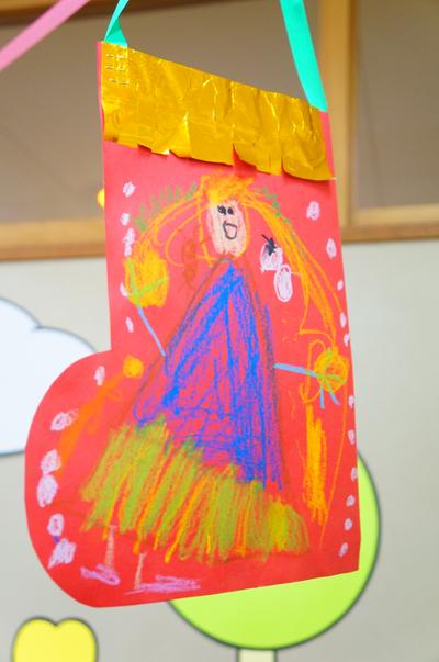 幼稚園サンタの長靴