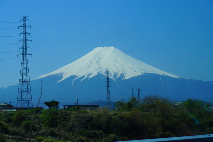 高速道路 富士山