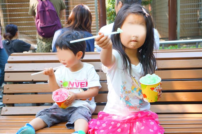 上野動物園 かき氷