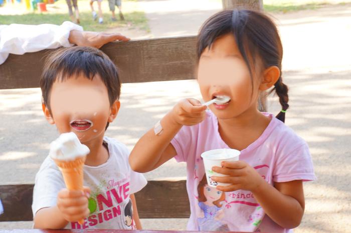 都民の日 成田ゆめ牧場 ソフトクリーム