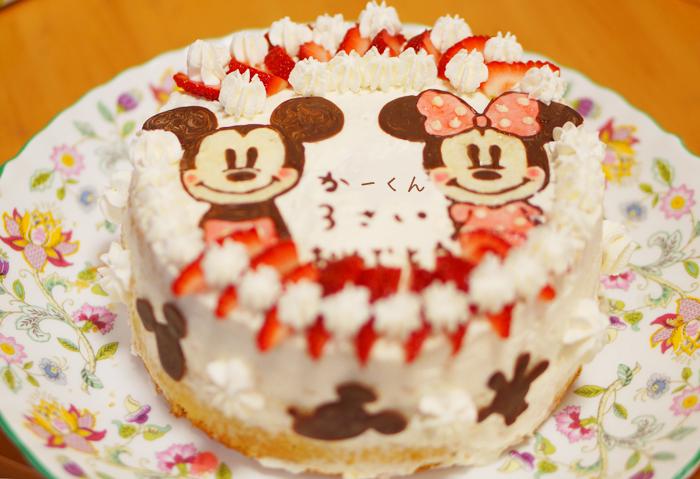 ミッキー ミニー キャラケーキ キャラクターケーキ チョコペン