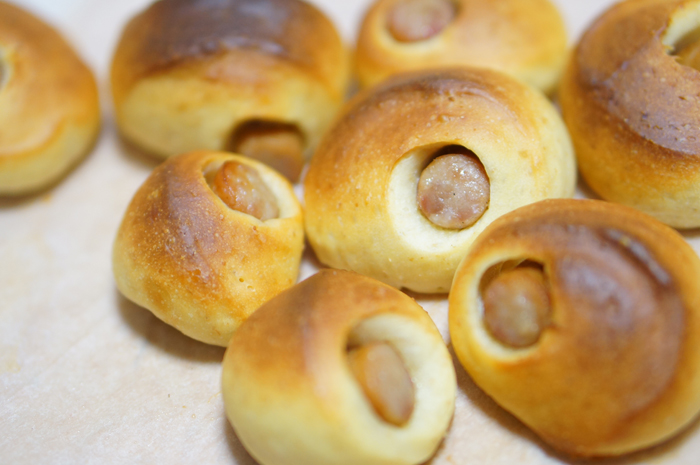 手作りパン ソーセージパン