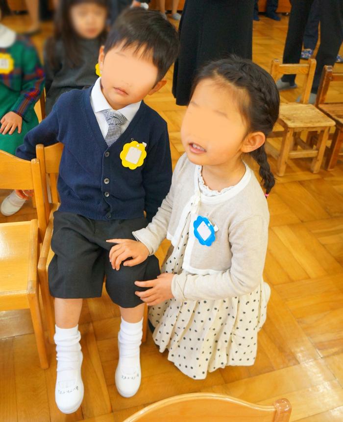 長男 長女 入園式 幼稚園