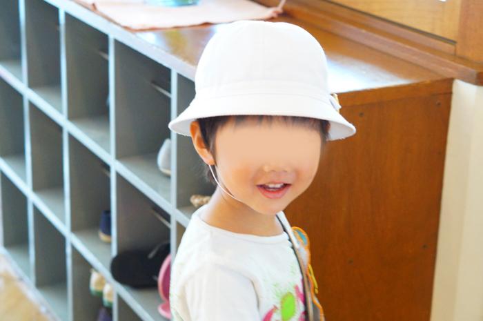 長男 幼稚園 衣替え 夏帽子