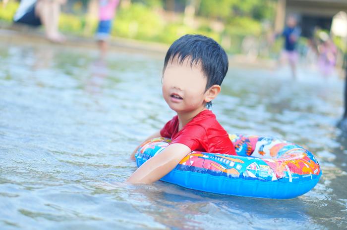 水遊び 長男