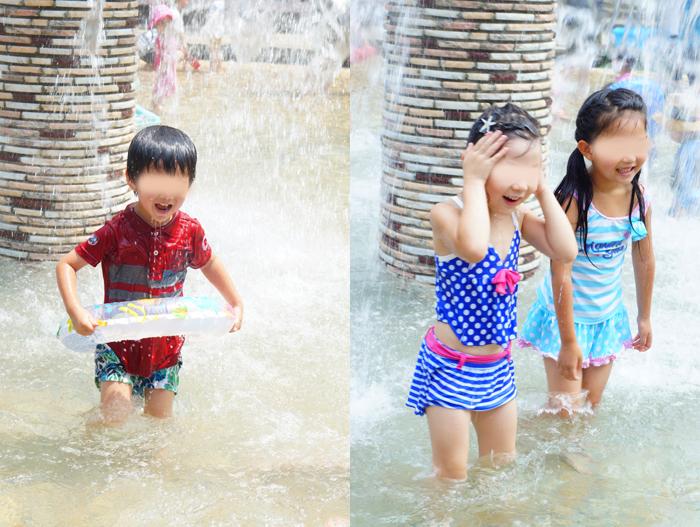 長女 長男 水遊び