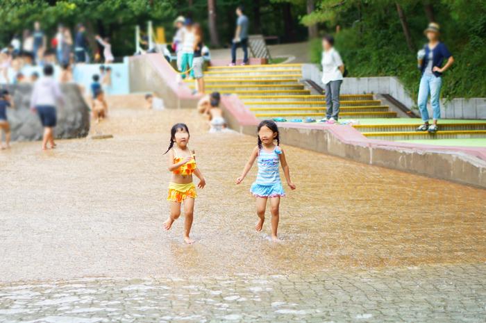 秋遠足 長女 水遊び