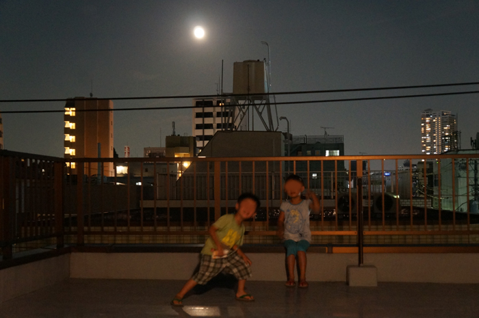 お月見 月 スーパームーン 長女 長男