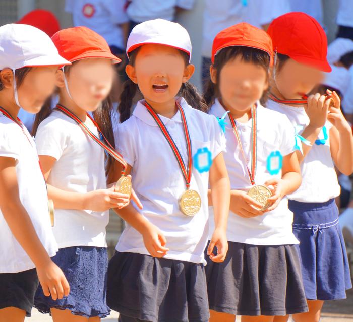 長女 運動会 幼稚園 金メダル