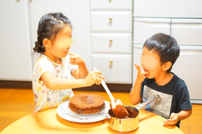 チョコレートケーキ 手作り ケーキ 長女 長男