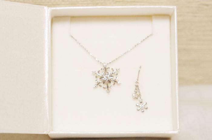 雪の結晶 プレゼント アクセサリー ネックレス ピアス