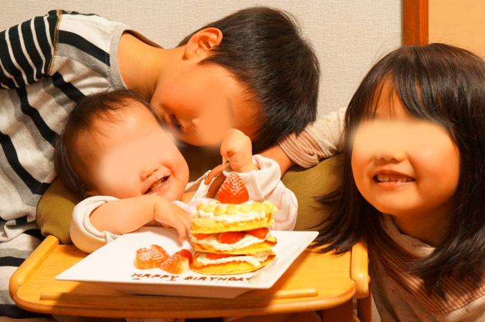 次女 1歳 お誕生日 ケーキ