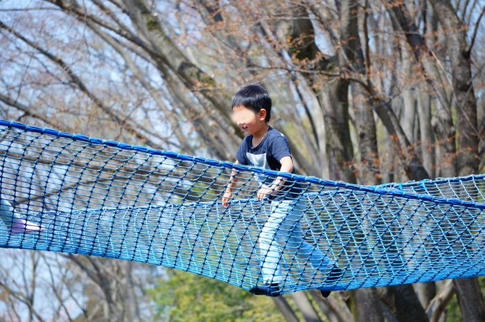 昭和記念公園 ネットの森 長男