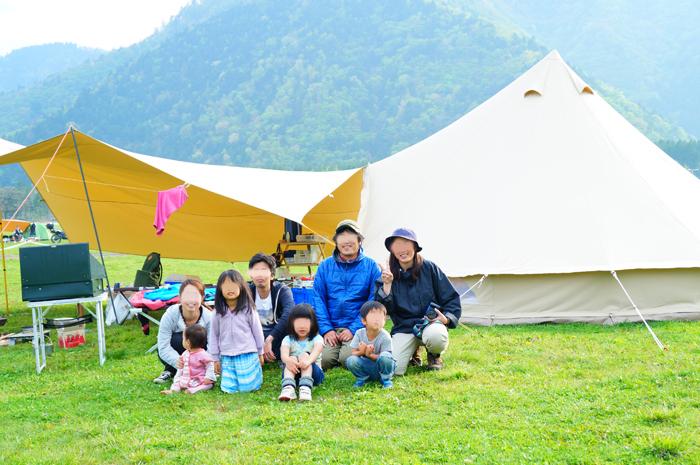 キャンプ お友達と ふもとっぱら 富士山
