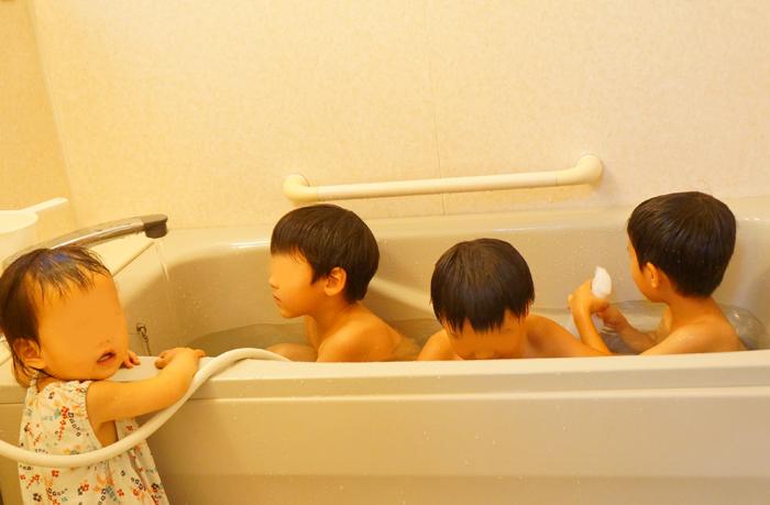 お風呂 お友達と一緒に