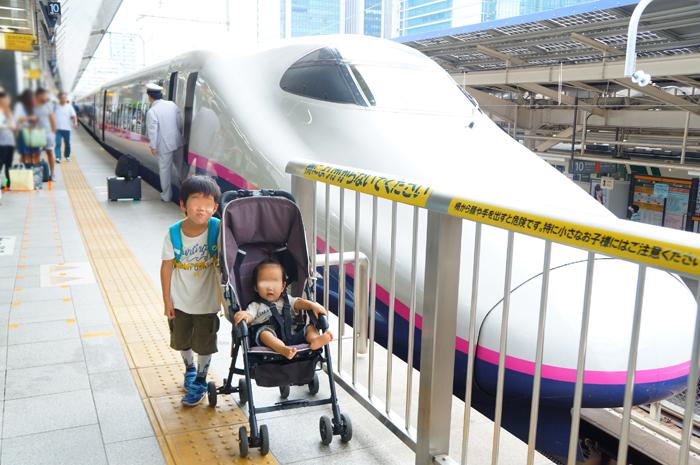 谷川温泉へ 新幹線 とき 長男 次女
