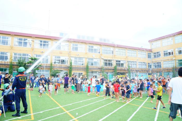 水遊び 学校