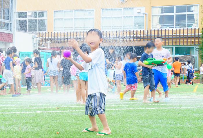 学校 水遊び かーくん