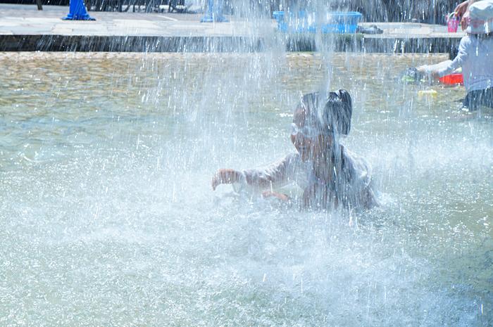 水遊び 日暮里南公園