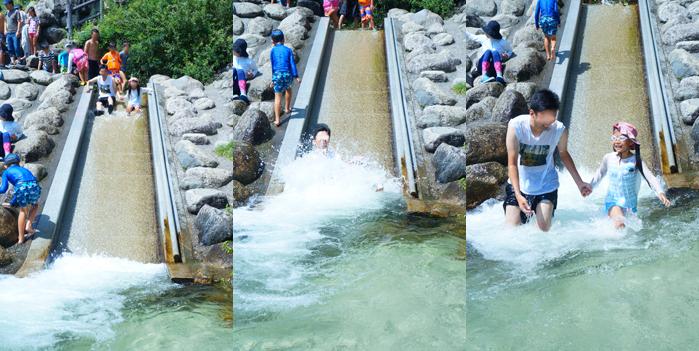 山梨 水遊び べるが 川