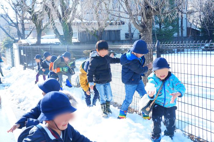 雪 幼稚園